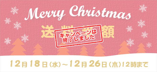 【送料半額】クリスマスキャンペーン!